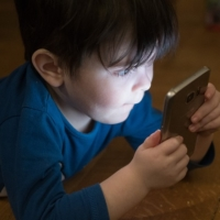 Child with Cell Phone