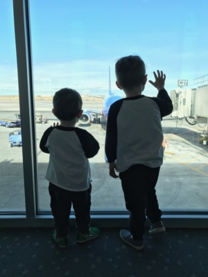 Kids at the airport